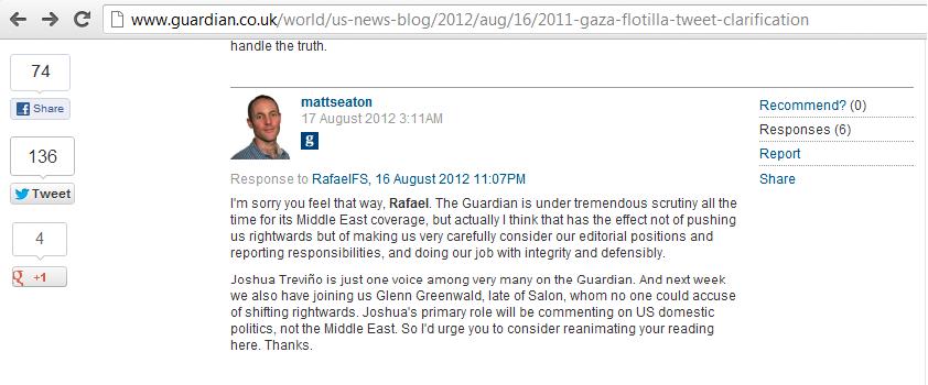 Has the Guardian backtracked on Josh Trevino?