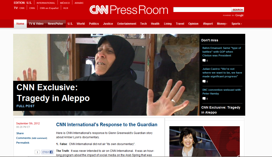 CNN responds to Greenwald Guardian article