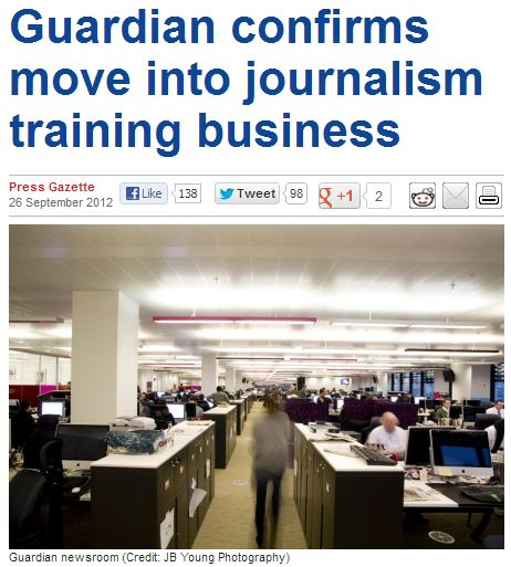 No, this isn't a parody piece: Guardian confirms move into journalism training business!