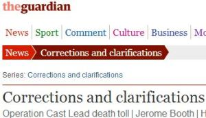 Following CiF Watch post, Guardian corrects John Pilger's false casualty figures from Gaza War (Updated)