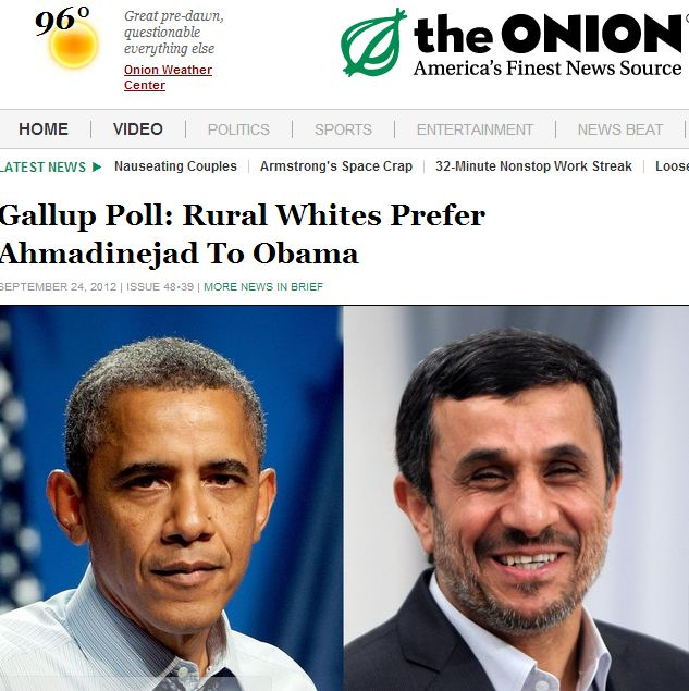 "Iran's 'finest news source"" reports poll showing that many Americans HEART Ahmadinejad"
