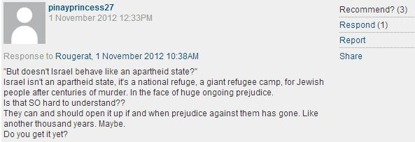 "'CiF' reader comment of the day: An alternative ""refugee camp"""