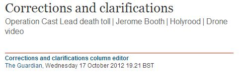 Following our post, Guardian amends story claiming Hezbollah drone was shot down over Palestinian territory