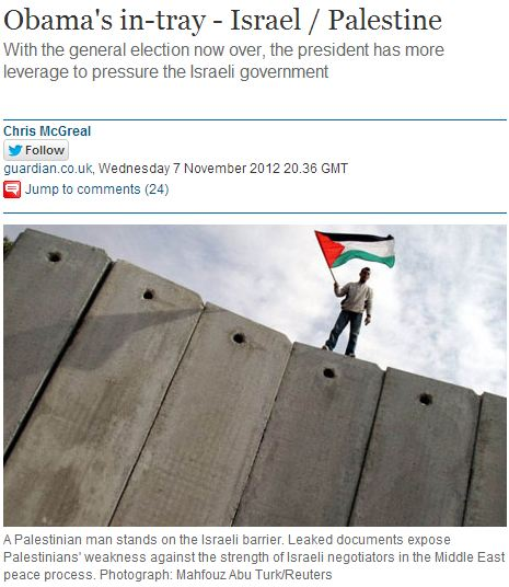 Chris McGreal lies about Israeli building freeze