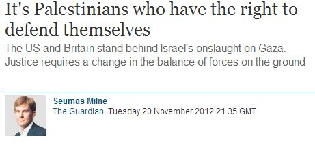 The Guardian's Seumas Milne defends Palestinians' right to kill Israelis