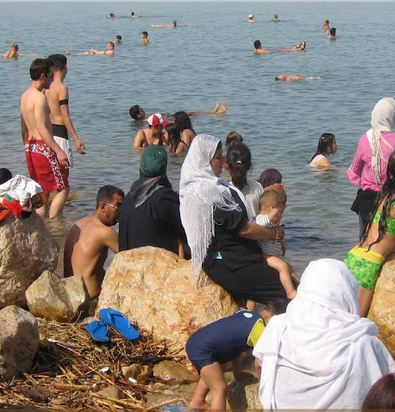 Jews and Arabs at the Dead Sea