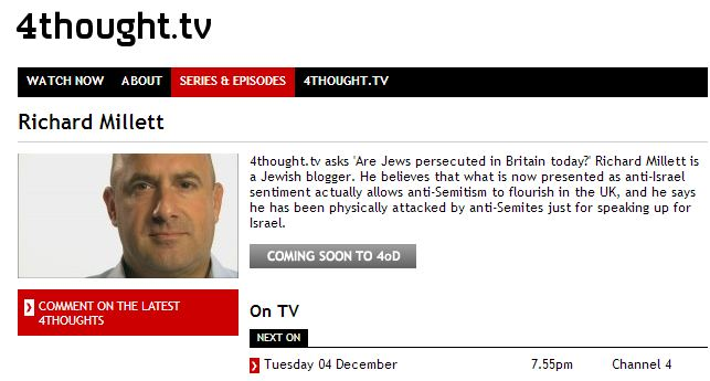 Are Jews Still Persecuted in Britain Today? Richard Millett on 4ThoughtTV