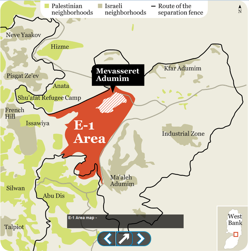 "How big is E-1?  The geographic reality of an alleged ""impediment to peace"""