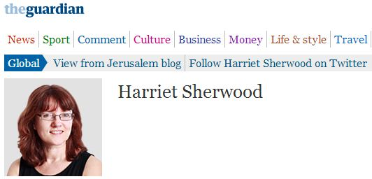 Harriet Sherwood 'forgets' to note place of relative Jewish significance in Jerusalem