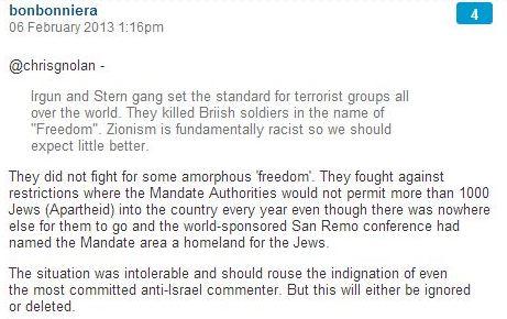Postscript to David Ward's comments about 'Jewish culpability'.