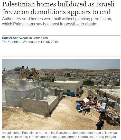 What Harriet Sherwood missed while in Gaza: Hamas to demolish 75 'illegal' Palestinian homes