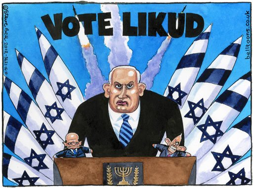 The Guardian, Steve Bell, Bibi and more puppet-like control