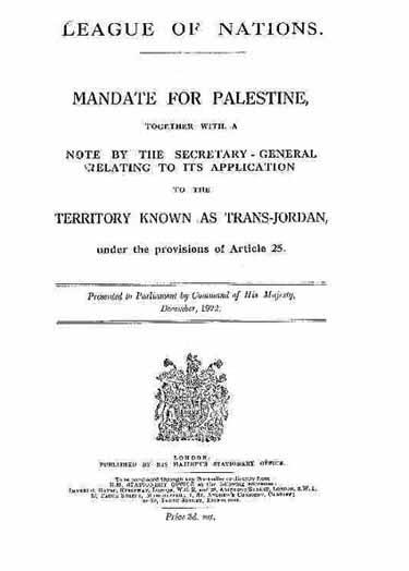 Mandate for Palestine