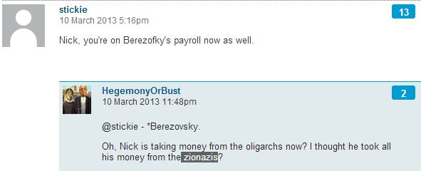 "Why haven't 'CiF' moderators deleted comment with the word ""Zionazis""?"