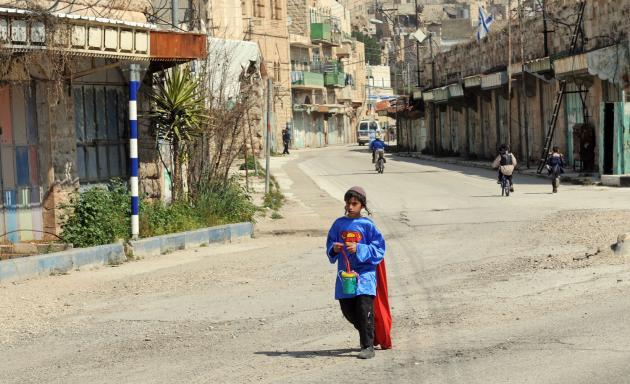 "An ""illegal"" Israeli settler boy, Purim 2011"