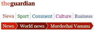 The Guardian's continuing obsession with Mordechai Vanunu