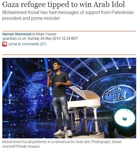 Palestinian man (whose is definitely NOT a refugee) tipped to win Arab Idol