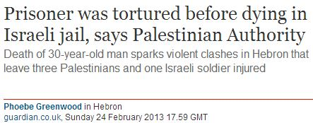 Arafat Jaradat and the torture of Palestinian prisoners that the Guardian won't report