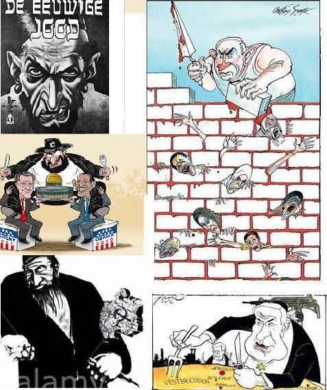 anti semitic cartoons