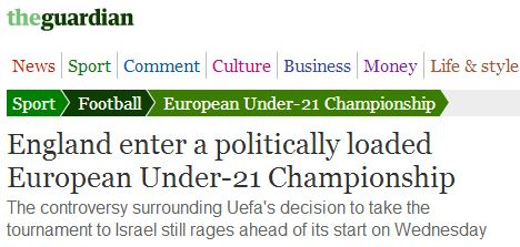 Guardian sports writer makes unforced error in report on failing BDS campaign against Israel