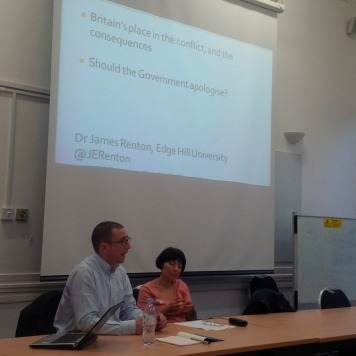 James Renton and Deborah Maccoby of JfJfP at SOAS