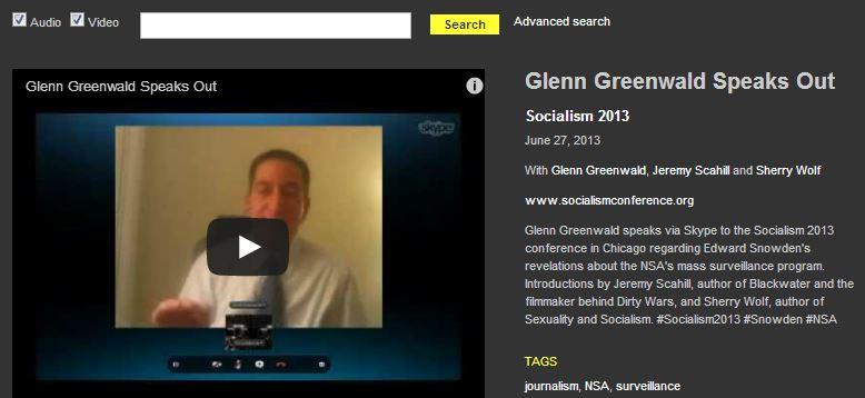 Glenn Greenwald, speaking at marxist meeting, misrepresents Snowden's goals