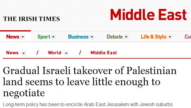 Irish Times report includes false claim about BDS impact on Jerusalem Light Rail