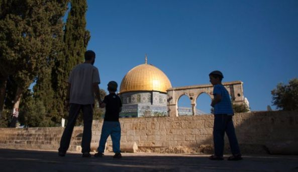 Jews at Temple Mount, April 2013