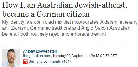 Antony Loewenstein's latest dishonest anti-Israel smear at 'Comment is Free'