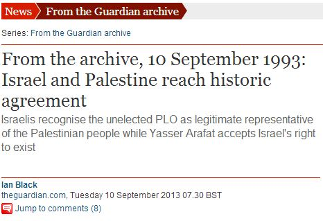 "The Guardian falsely characterizes First Intifada as a ""largely unarmed rebellion"""