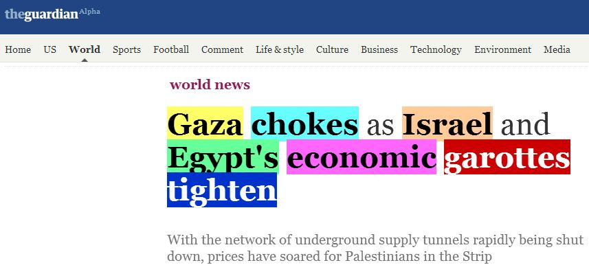 Guardian quickly changes its mind, decides Israel is NOT 'choking Gaza'