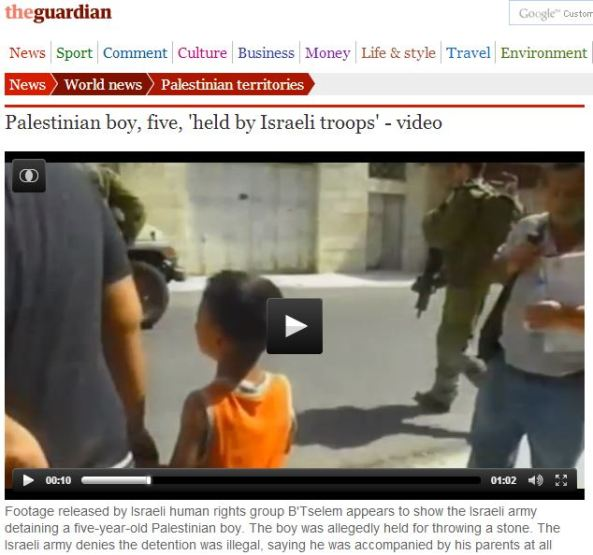 Is the Guardian unmoved by the recent terror attack on a 9-year-old Israeli girl?