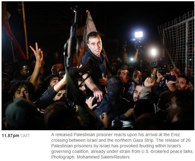 Guardian images highlight freed terrorist; ignores Holocaust survivor he murdered