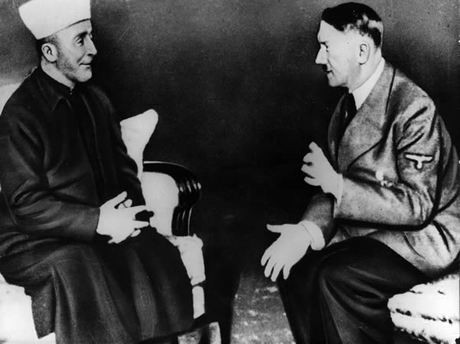 The Grand Mufti of Jerusalem, Hajj Amin al-Husayni, meets Hitler for the first time. Berlin, Germany, November 28, 1941.