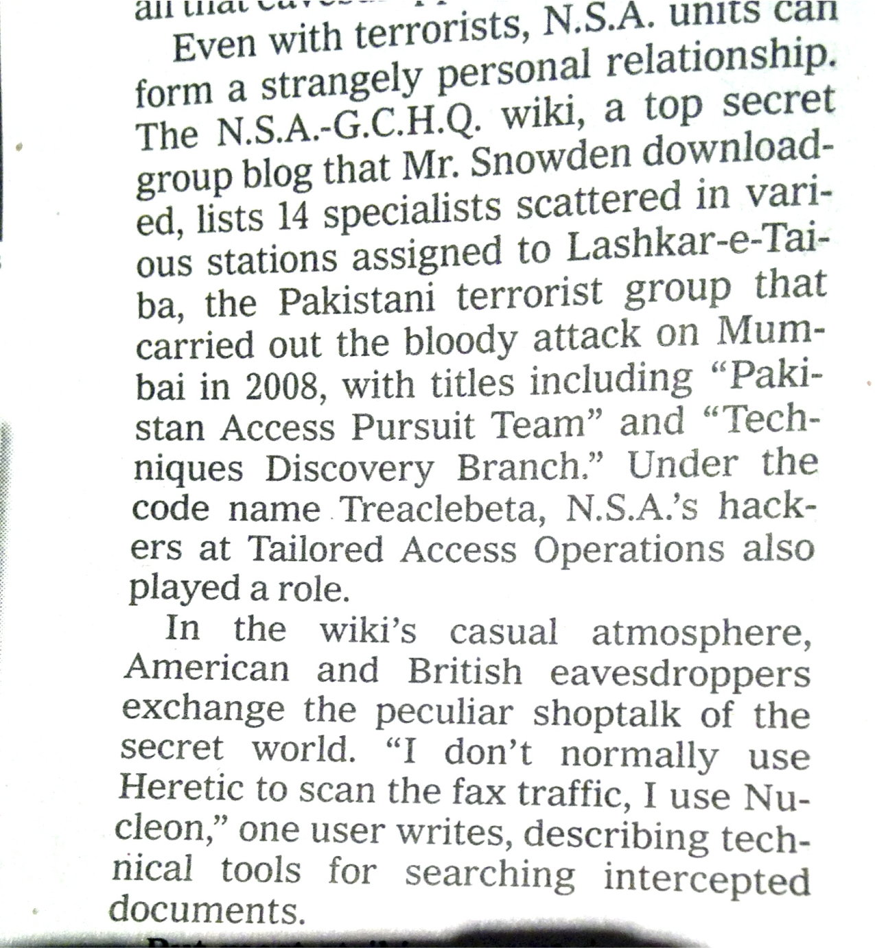 Betrayed: how the Guardian muled the names of GCHQ personnel to American bloggers and papers