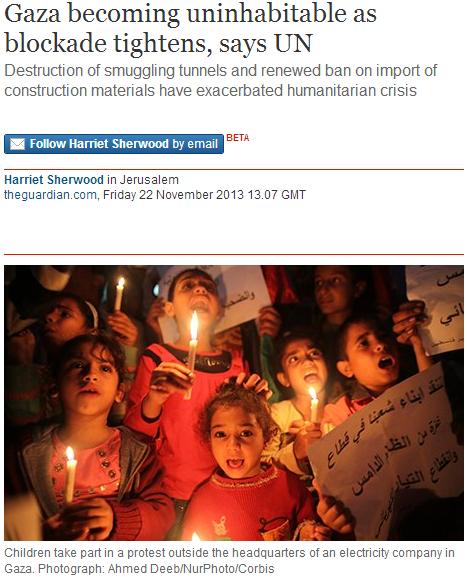Harriet Sherwood misleads on UNRWA statement about Gaza construction ban
