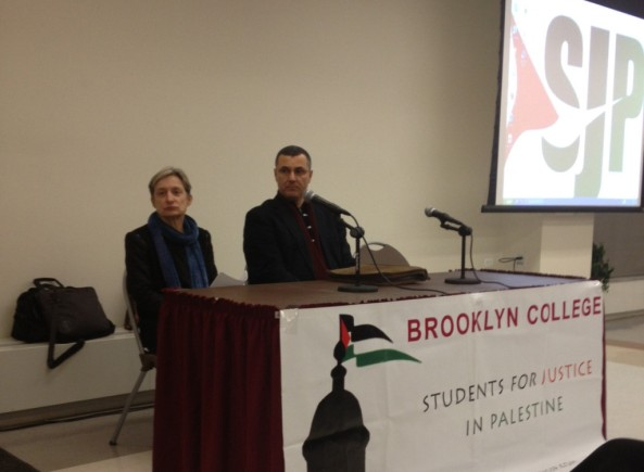 Judith Butler and Omar Barghouti at Brooklyn College event