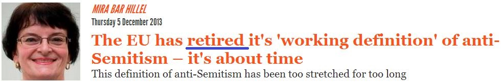 Email shows The Independent got it wrong on Antisemitism working definition