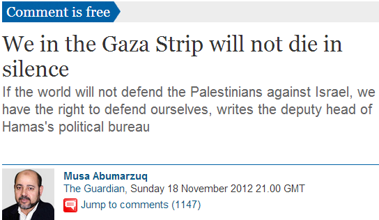 Tyranny of the weak: Why the Guardian will support the next Palestinian Intifada