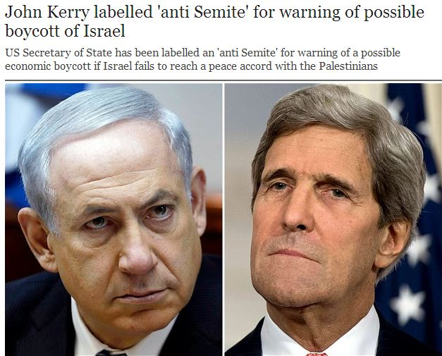 "Did Bibi or his ministers label John Kerry an ""anti-Semite""?"