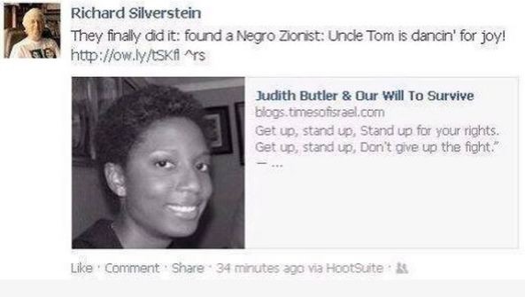 Richard Silverstein accuses African-American Zionist of being a 'Negro' Uncle Tom