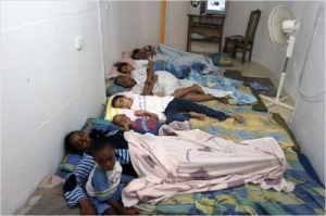 Israeli children in a Sderot bomb-proof bunker, 2009 (Credit: Noam Bedein)