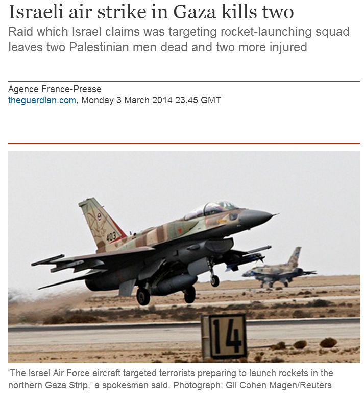 Guardian covers tabloid scandal about Bibi's wife; ignores Gaza terror attacks