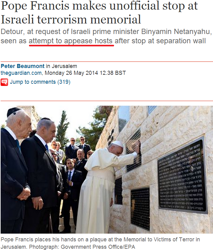Vatican contradicts Guardian's claim about pope's visit to terror memorial