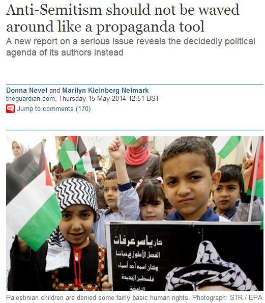 Repulsive Guardian op-ed justifies Palestinian antisemitism