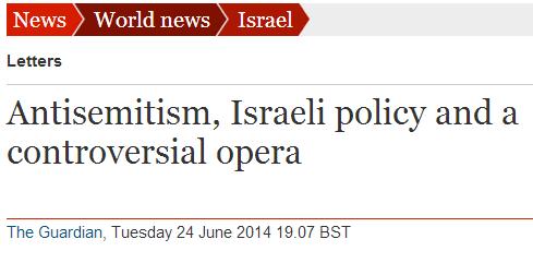 Guardian legitimizes claim that Jews are responsible for European antisemitism