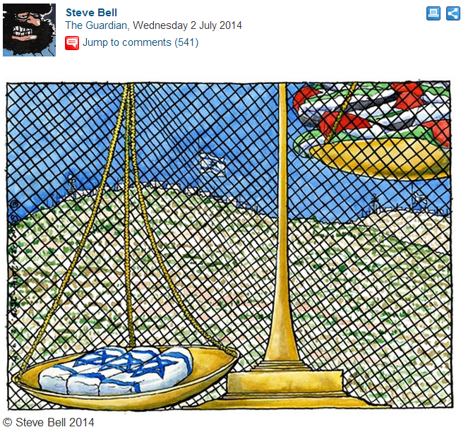 Two Guardian cartoonists agree: Jewish life is overvalued by the media