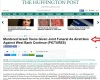 Huffington Post Articles With Lies, antisemitism, errors and Deception on Israel Huffpost-airstrikes