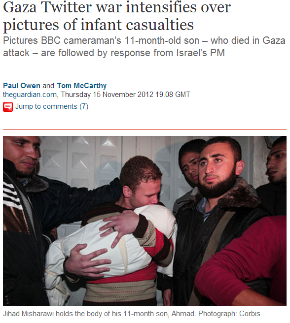 Guardian brings back Jihad Misharawi photo to illustrate 'Israeli attacks'