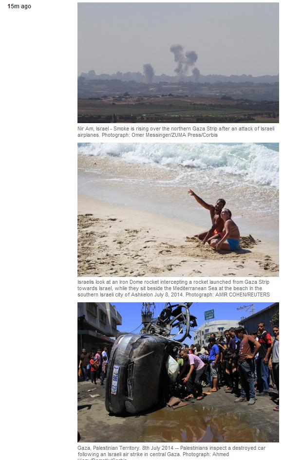 Guardian thinks life for Israelis under fire is a day on the beach